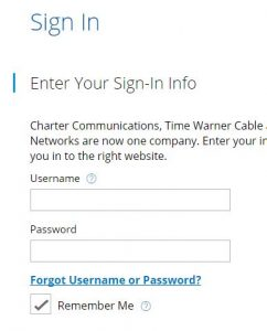 Reset charter mail password