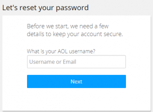 AOL Reset Password