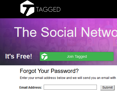 Reset Tagged Dating Password