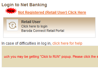 Reset Bank of Baroda password login