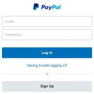 Reset PayPal Password login