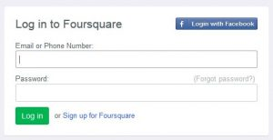 reset and change foursquare account