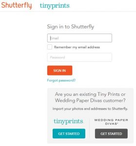 reset and recover Shutterfly password