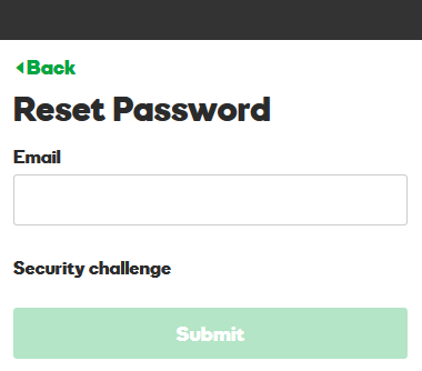 Reset GoDaddy password