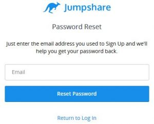 Reset Jumpshare Login Password