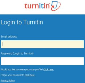 Reset Turnitin Password