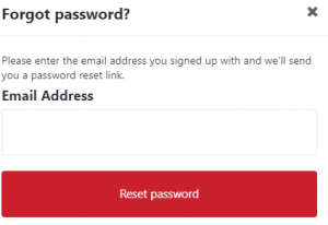 Reset Zomato Password