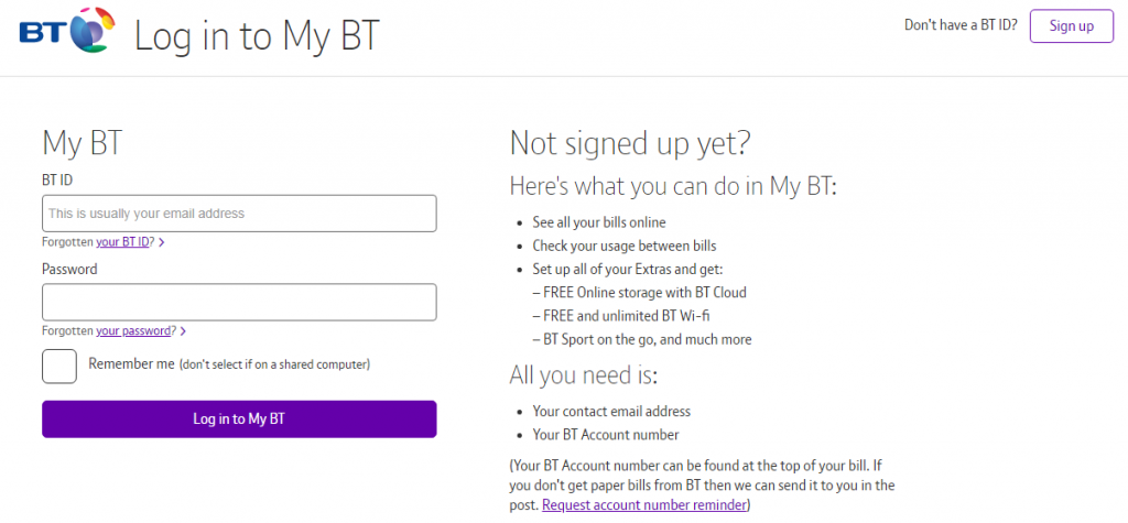 Reset Btinternet Mail Password Login Bt Panel