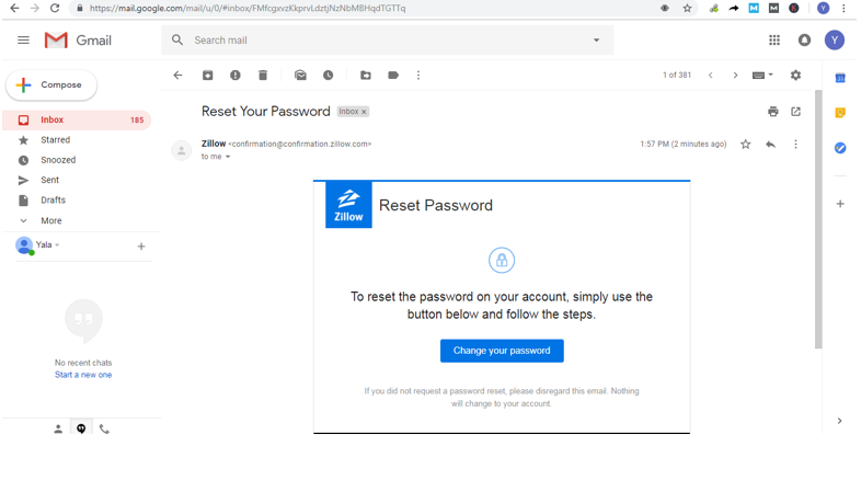 How To Reset Zillow Password
