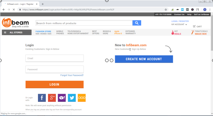 Infibeam Account Login And Reset