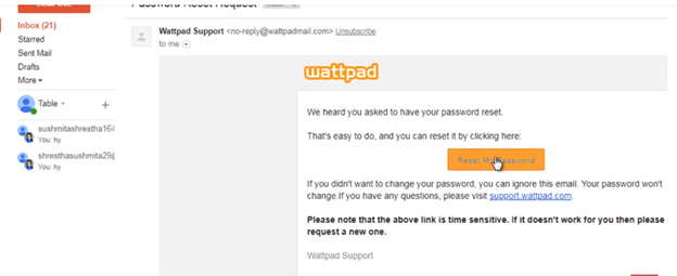 How To Reset Wattpad Password