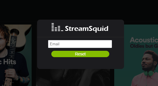 Streamsquid Login and Reset