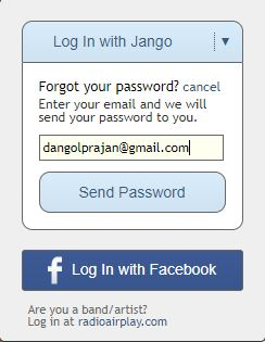 Jango Login and Reset